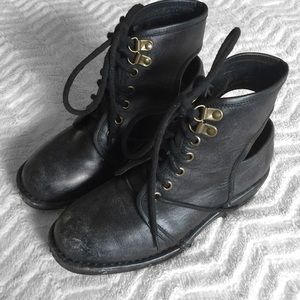 Jeffrey Campbell Black Rosie Combat Boots